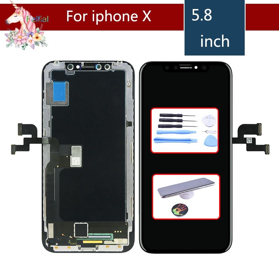 D'origine LCD complet Pour iphone X Affichage Écran Tactile Digitizer Remplacement Assemblée Complet pour iphone X 10 lcd