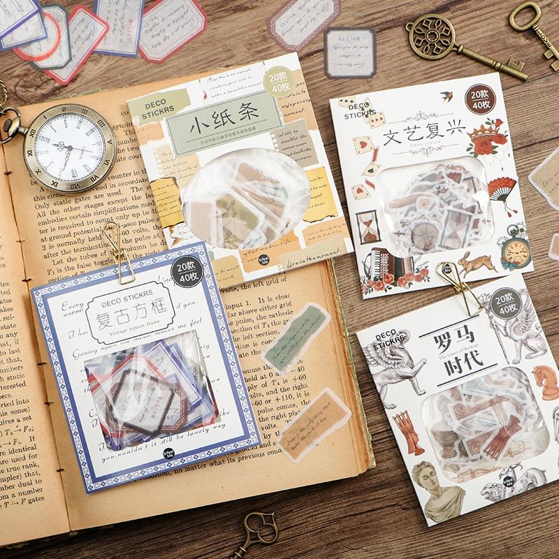 Restore Ancient Ways Time Sea Frames Stickers Set Decorative Stationery Craft Stickers Scrapbooking DIY Diary Album Stick Label цена 2017