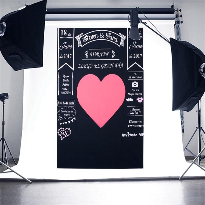 OOTDTY New Blackboard Loving Heart Photo Background Vinyl Studio Photography Backdrops Prop yihua 898bd 220v 2in1 digital display electric soldering iron hot air heat gun smd rework soldering desoldering station