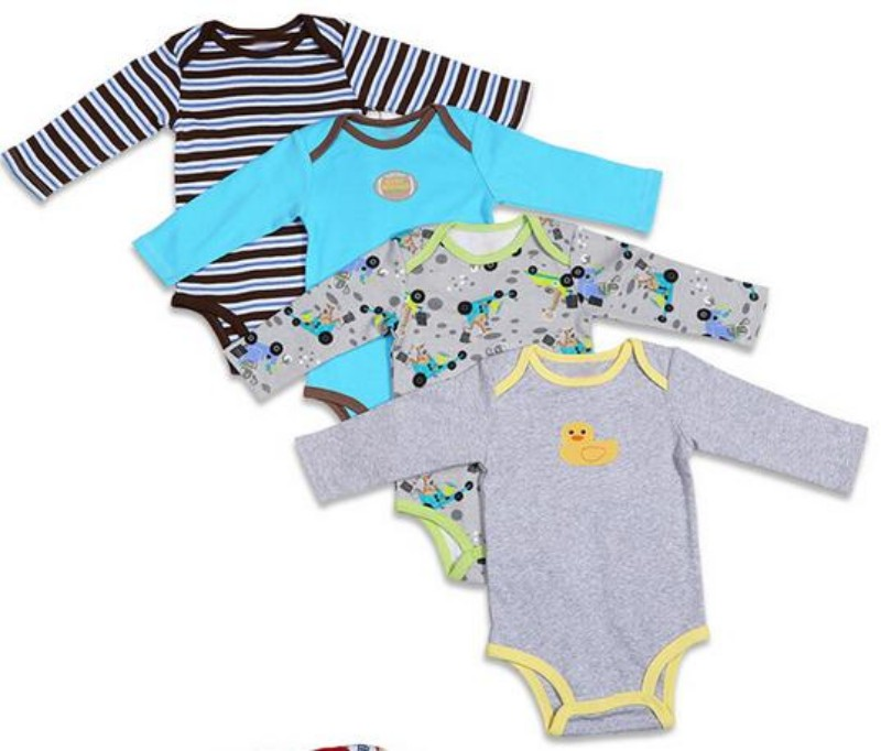 5 Pieces Baby Rompers Baby Long Sleeve Jumpsuite Cotton Boys Girls Mult-Pattern Body Suit Autumn Winter Baby Clothes Accessories