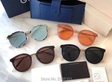 купить New fashion Retro round vintage sunglasses gentle MERLYNN men women character style Gafas De Sol original case free shipping по цене 2714.55 рублей