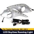 Envío gratis LED Diurna DRL de La Lámpara de Luz Para Toyota Highlander 2011 2012 2013