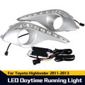 free shipping LED Daytime Running Light For Toyota Highlander Lamp DRL 2011 2012 2013