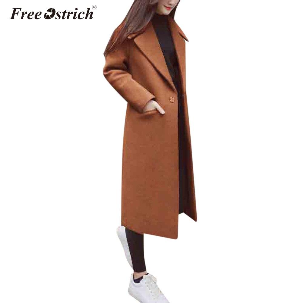 Бесплатная страуса зимнее пальто Для женщин на пуговицах с отложным воротником манто с Минни Маус Abrigos Mujer Invierno 2019 Casaco Feminino N30