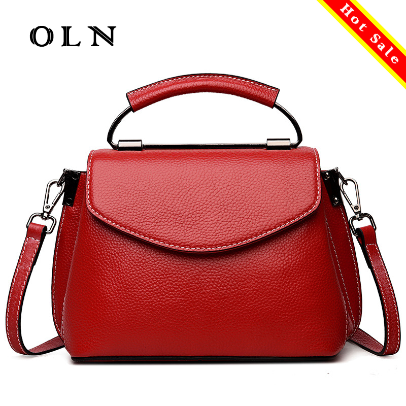 OLN Brand Luxury Genuine Leather bags Women Messenger Bags Small Shell Purses Bags Handbags Women Famous Brands Handbags New oln brand 100