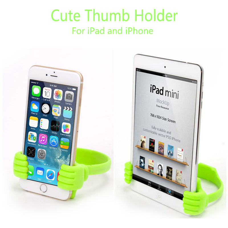 Cute Thumb Holder For iPhone/Mini iPad, Big Thumb Mobile Cell Phone Tablet Accessory Mount Stand Support Desktop Table Stents