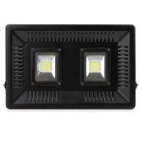 100% Full Power 100W LED Flood Light outdoor lighting Smart IC Ultrathin Waterproof Exterior Spot Light Led Reflector Floodlight
