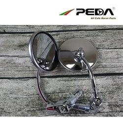 PEDA 2018 Cafe racer części lustro w stylu vintage okrągłe ze stali nierdzewnej motocykl rocznik sideview widok z tyłu lustro