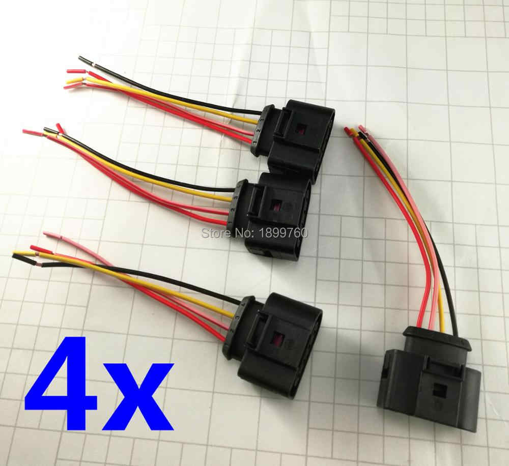 4X IGNITION COIL CONNECTOR REPAIR KIT HARNESS PLUG WIRING ... on