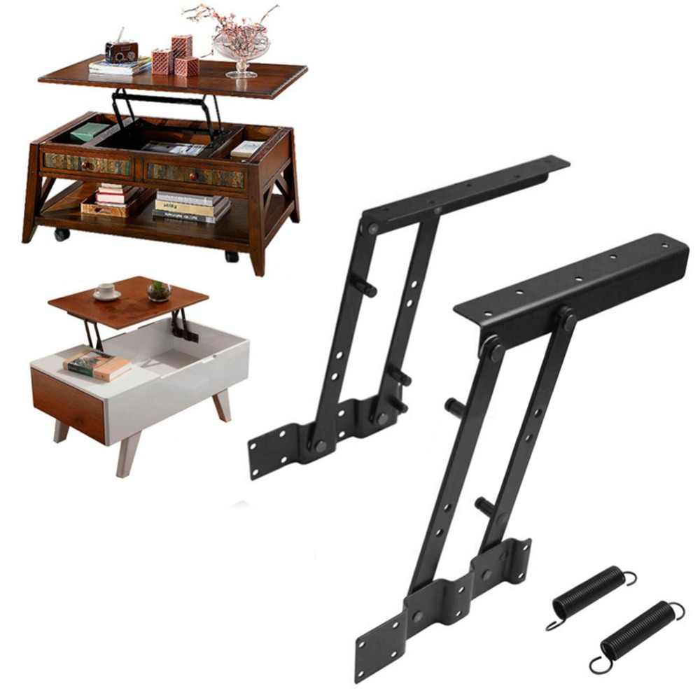 1pair Multi Functional Lift Up Top Coffee Table Lifting Frame Mechanism Spring Hinge Hardware In