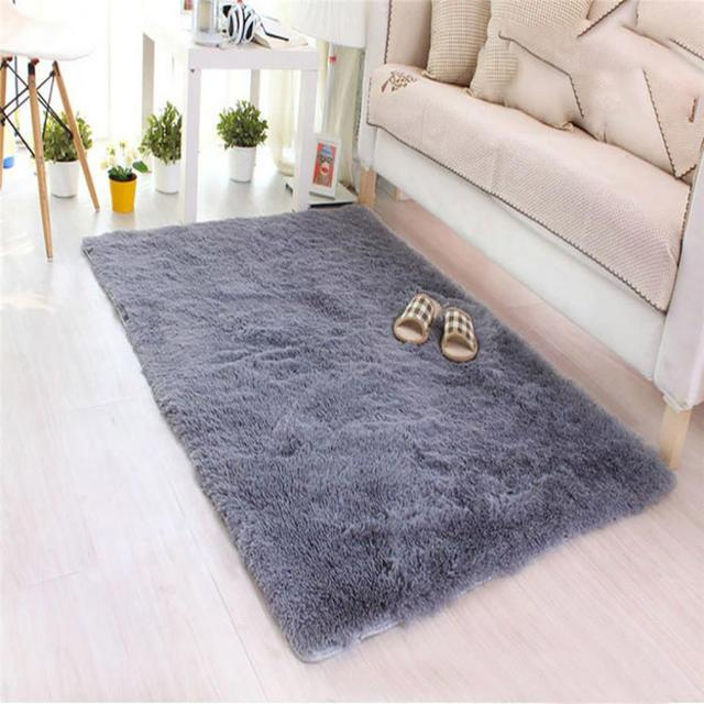 40*60cm Rectangle Soft Fluffy Rugs Anti Skid Shaggy Area Rug Dining Room  Home