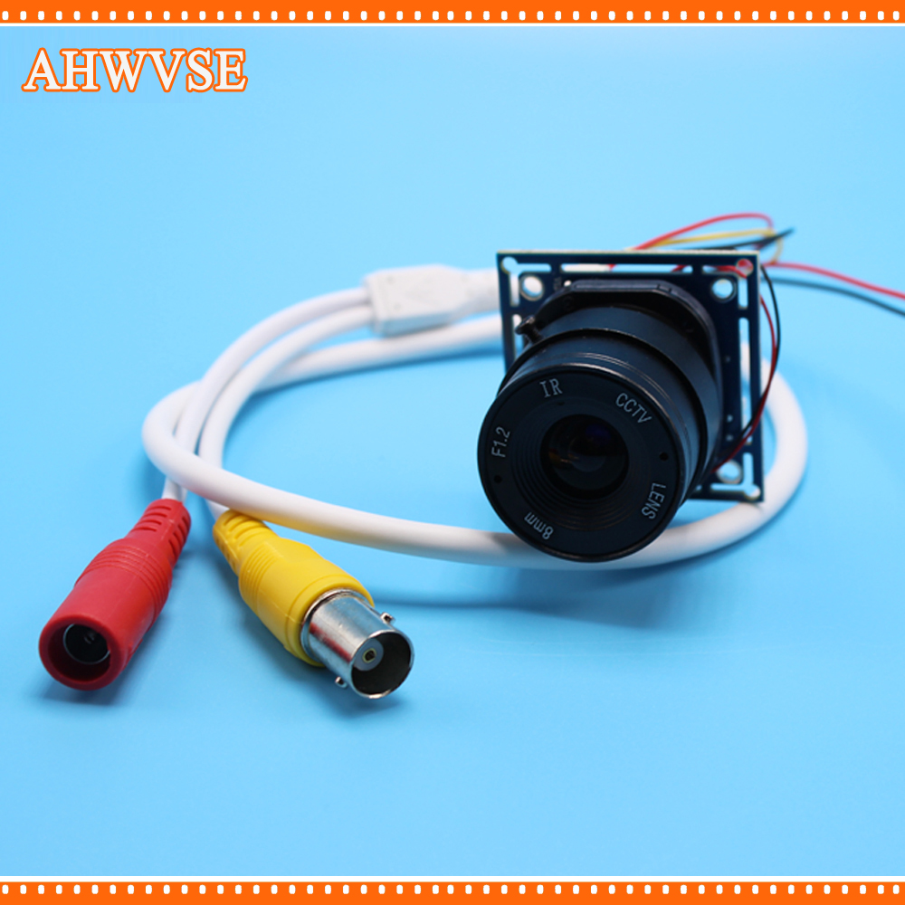 AHWVSE HD 1200TVL CS 16mm lens  CCTV Camera module board with IR-CUT and BNC cable CCTV Security Camera Mini Camera