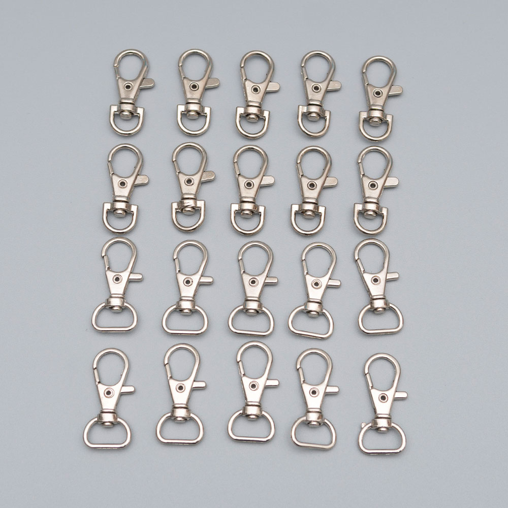 10pcs/lot metal lobster dog buckle keychain rotating blinds clip spring hook DIY jewelry accessories key ring