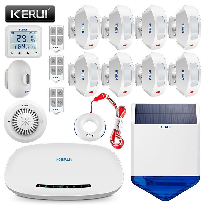 KERUI W19 Home GSM Alarm System Security IOS/Android APP Control SMS Burglar Alarm System kerui home gsm alarm system security ios android app control sms burglar alarm system kit with motion sensor door window sesor