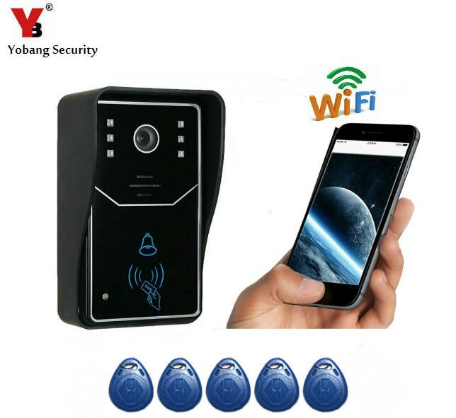 все цены на Yobang Security WiFi Door Monitor wireless Video Door Phone Recording Doorbell Intercom Wifi RFID Access Waterproof Camera онлайн