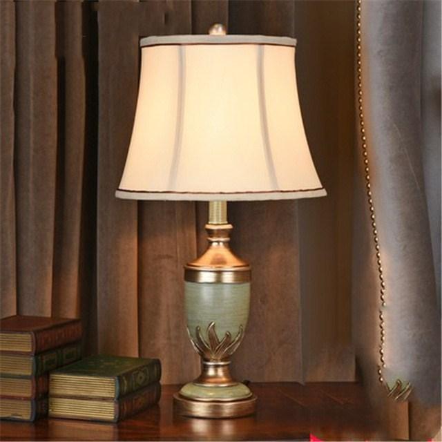 Американская прикроватная лампа для спальни, Европейский стиль, для гостиной, для учебы, креативная ретро деревенская художественная Сваде