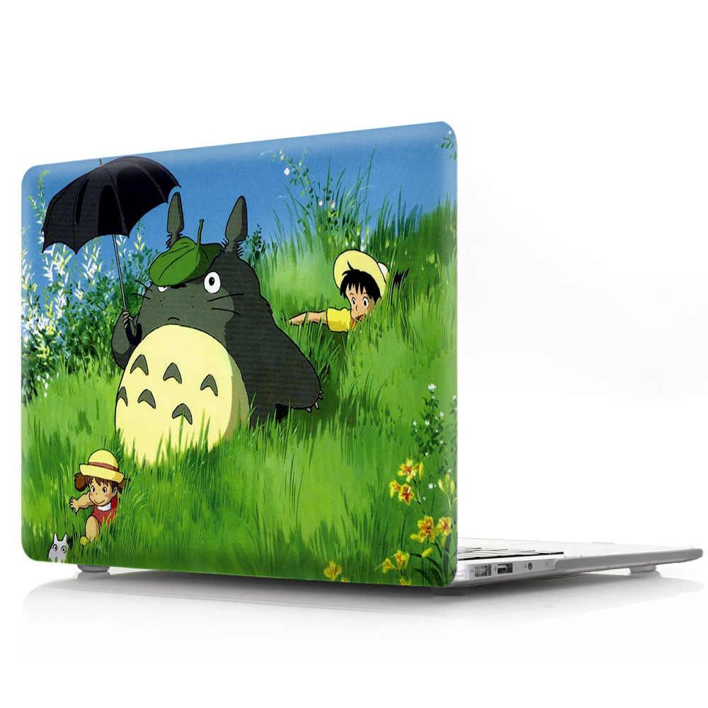 Totoro Ordinateur Portable étui pour macbook Air Pro Retina 11 12 13 15 pouces 2018 neuf Avec Touch Bar A1990/A1989 étui rigide + Couverture de Clavier