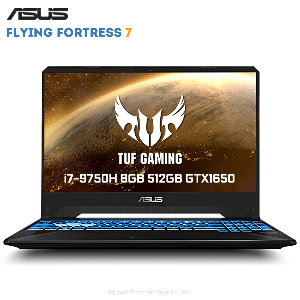 Original ASUS Flying Fortress 7 15.6 polegada Jogos Janelas Laptop Intel Core i7-9750 H 8 10 GB de RAM SSD de 512GB GeForce™GTX1650 4GB