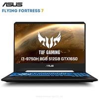 Original ASUS Flying Fortress 7 15.6 inch Gaming Laptop Windows 10 Intel Core i7 9750H 8GB RAM 512GB SSD GeForce™ GTX1650 4GB