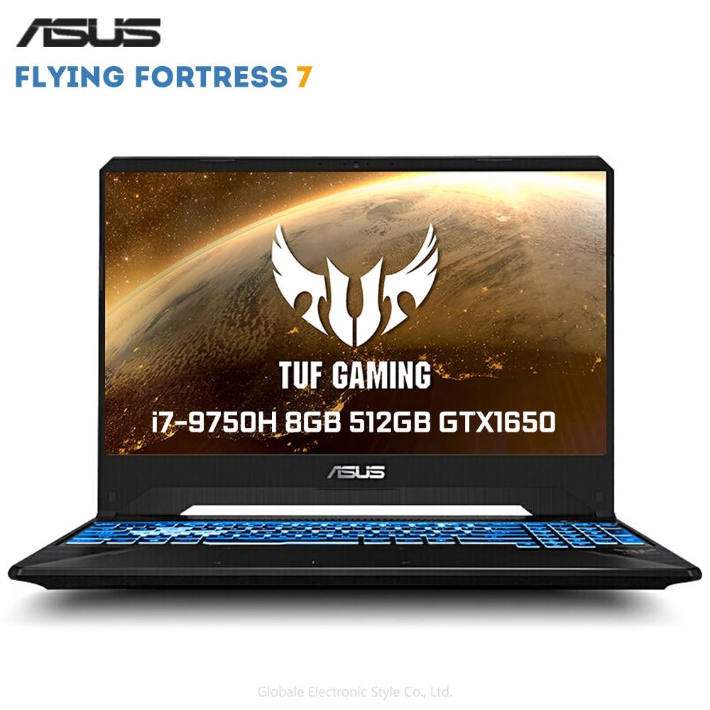 Originale ASUS Flying Fortress 7 Gioco da 15.6 pollici Del Computer Portatile Finestre 10 Intel Core i7-9750 H 8GB di RAM SSD DA 512GB GeForce™GTX1650 4GB