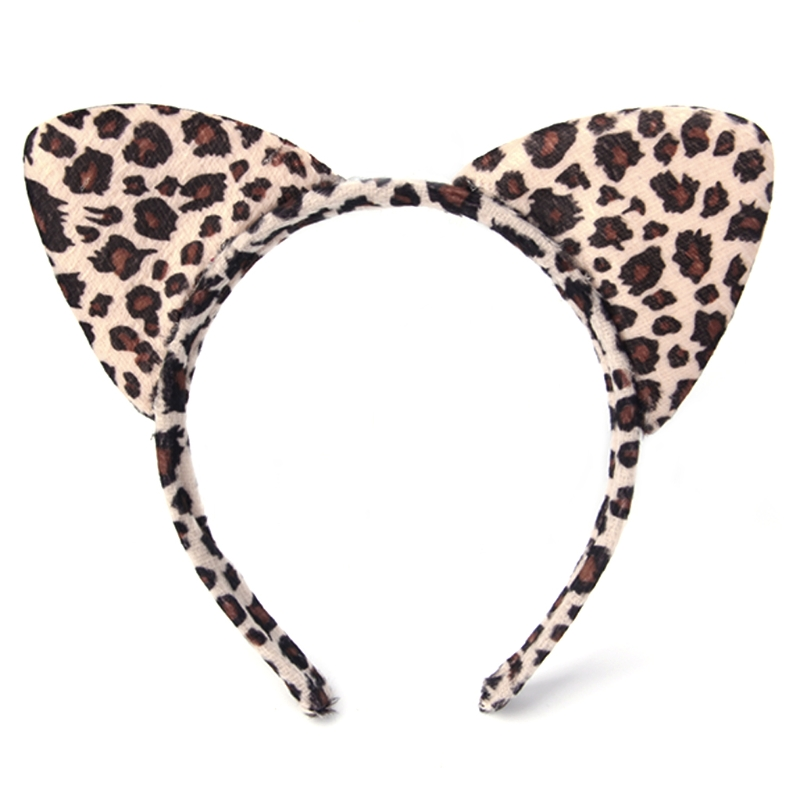Fashion Women Plush Tiger Leopard Cat Ear Headband Hair Band Cosplay Party Fancy F1FE
