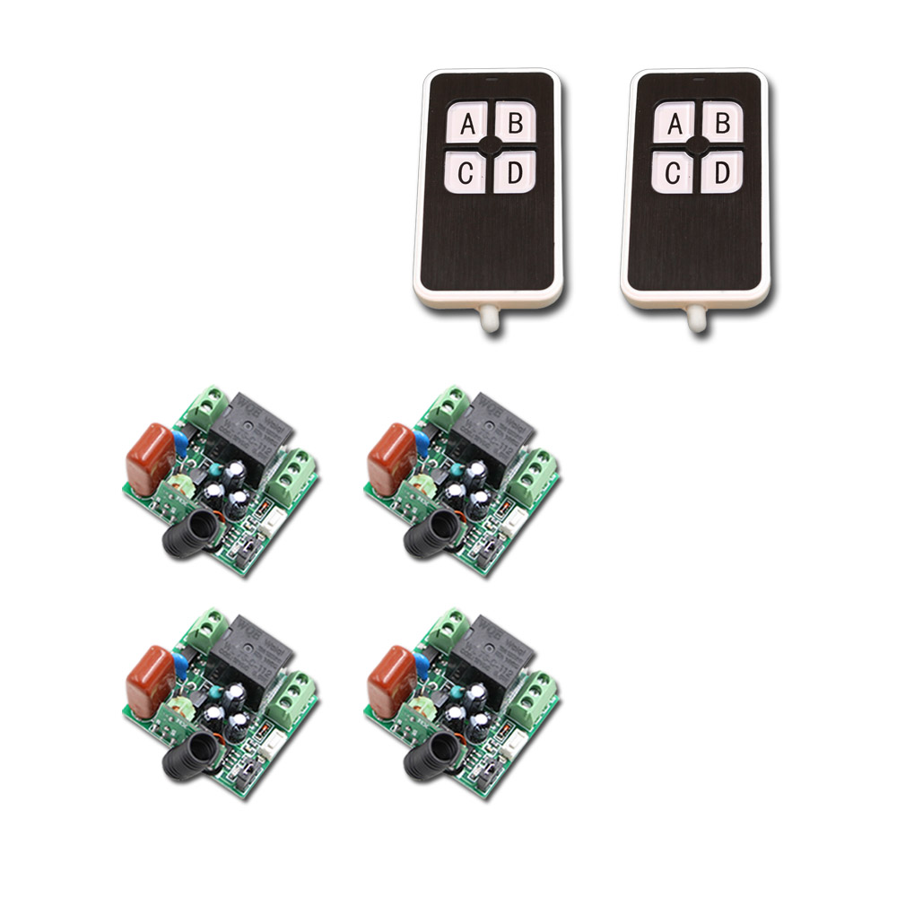 AC220V 1CH 10A Receiver Transmitter RF Wireless Mini Remote Control relay 1CH 10A Switch Light Lamp LED SMD ac 220v 10a 1 channel wireless relay remote control switch rf receiver 4transmitters led light lamp remote on off push button