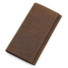 Genuine Leather Wallet Male Coin Purses Pocket Card Holder Slim Wallet for Credit Cards Men Brand Long Pockets