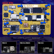 Механик MR X для IPHONE X XR XS MAX 11 11PRO MAX основная плата отвод тепла приспособление удаление отпечатков пальцев клей фиксированный зажим