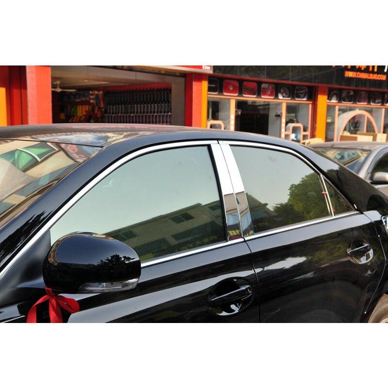 Lsrtw2017 304 en acier inoxydable voiture fenêtre garnitures pour toyota mark X 2005 2006 2007 2008 2009 2010 2011 2013 2012 2014 2015 2016 - 2