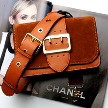 Womens new trend leather cross paragraph square small package Fashion casual brushed diagonal shoulder bag