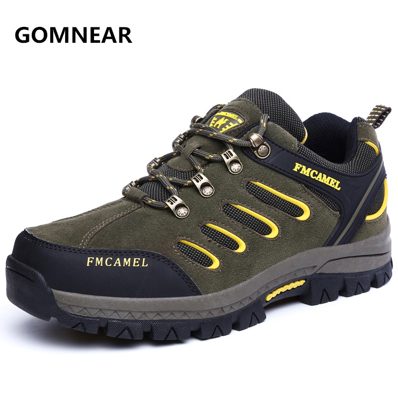 ФОТО Autumn And Winter new style men Breathable Trekking Hiking shoes camel outdoor Leisure waterproof antiskid wear-resisting boots