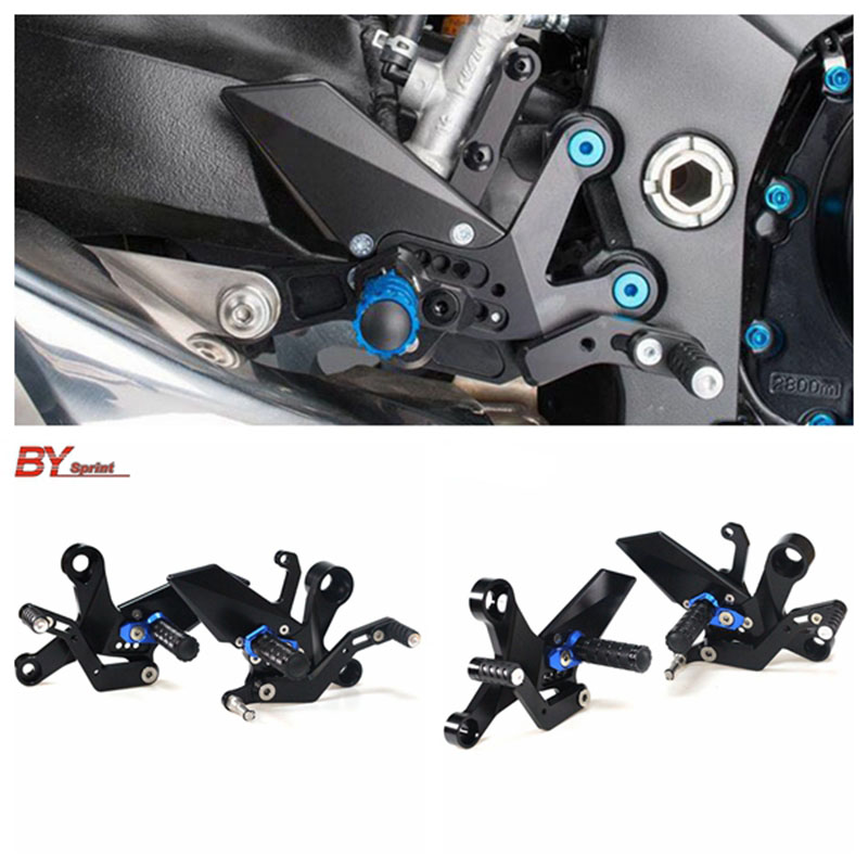 MT 09 Motorcycle CNC Accessories Adjustable Rearsets Rear Set Foot Pegs Pedal Set For YAMAHA MT09 mt09 2013 2017 High quality