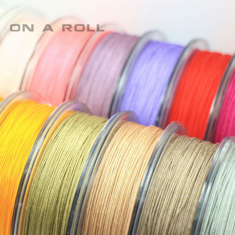0 5mm Nylon Cord Thread Chinese Knot Macrame Cord Bracelet Braided String DIY Tassels Beading 45m roll in Jewelry Findings Components from Jewelry Accessories