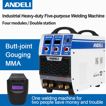 цена на Andeli Draagbare Eenfase Dubbele Bit Vier Modules Kerving/butt-joint/mma Spot Lassen Arc Multifunctionele Lassen Machine