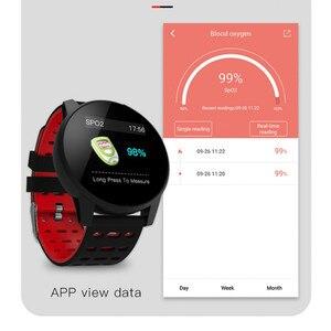 Image 5 - Inseguitore di fitness orologio da polso intelligente Oled di silice banda Heart Rate Monitor di pressione sanguigna tracker vita Impermeabile PKHonor fascia