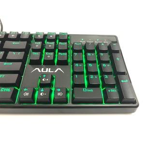 Image 4 - AULA Wired Mechanische Tastatur 104 Schlüssel Anti geisterbilder Roten Schalter gaming tastatur Grün Hintergrundbeleuchtung Spiel Tastatur # AK2053