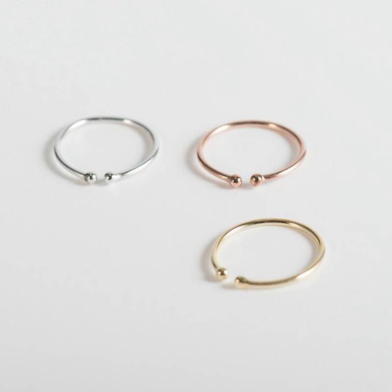 Ruifan 3 Color Simple Style Round Open Sterling Silver 925 Ring Accessories Women Thin Rings for Ladies Girls Jewelry YRI070