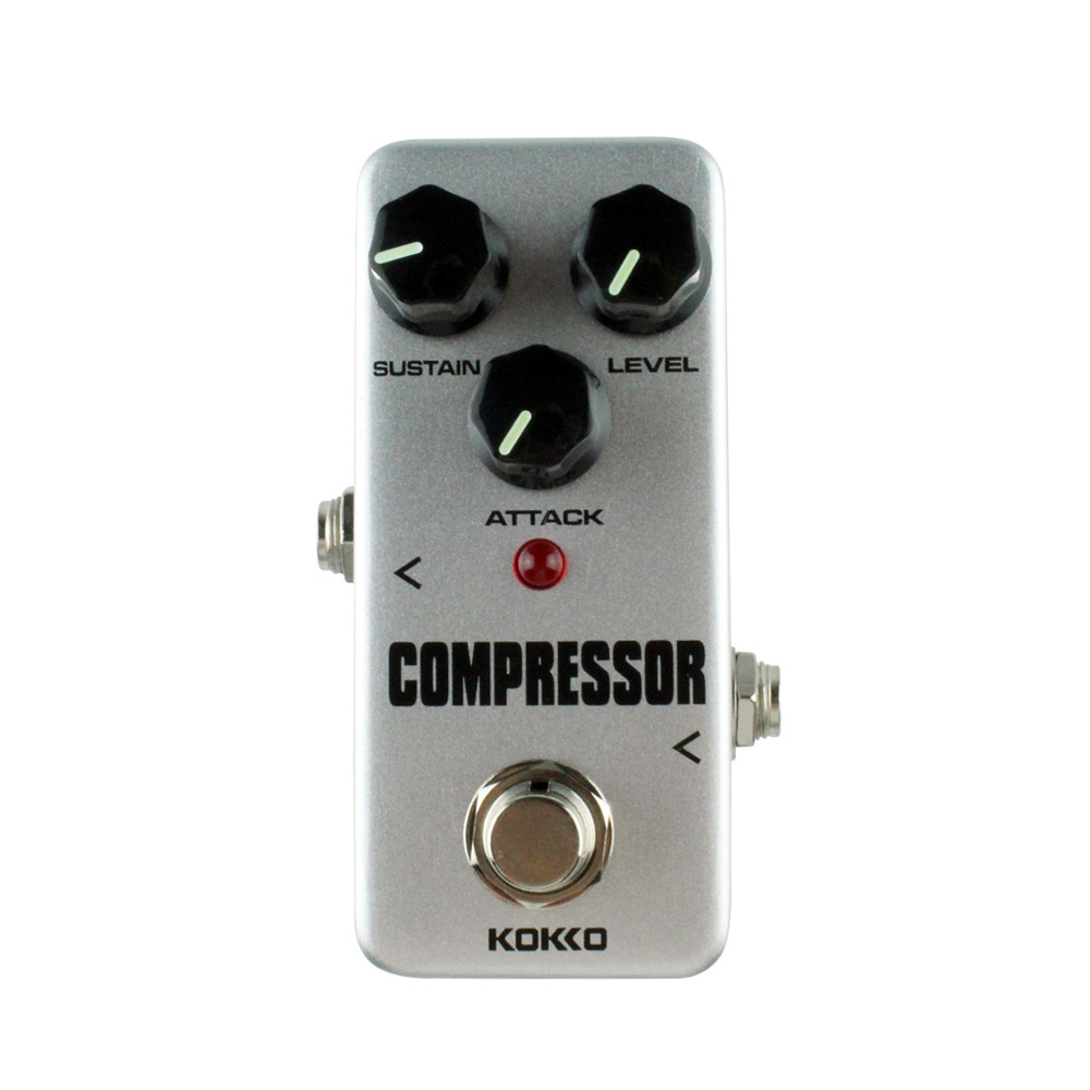 MMFC-KOKKO FCP2 Mini Compressor Pedal Portable Guitar Effect Pedal High Quality Guitar Parts Guitarra Effect Pedal kokko frb2 mini space pedal portable guitar effect external ac adapter delivering 9v dc regulated guitar parts