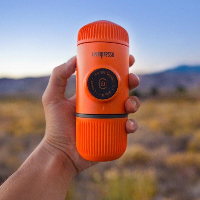 Ev ve Bahçe'ten Kahve Demlikleri'de Wacaco Nanopresso Taşınabilir Espresso makinesi, Kahve Makinesi, Yükseltme Sürümü Minipresso, 18 Bar Basınç, turuncu Devriye Baskı.'da  Grup 2