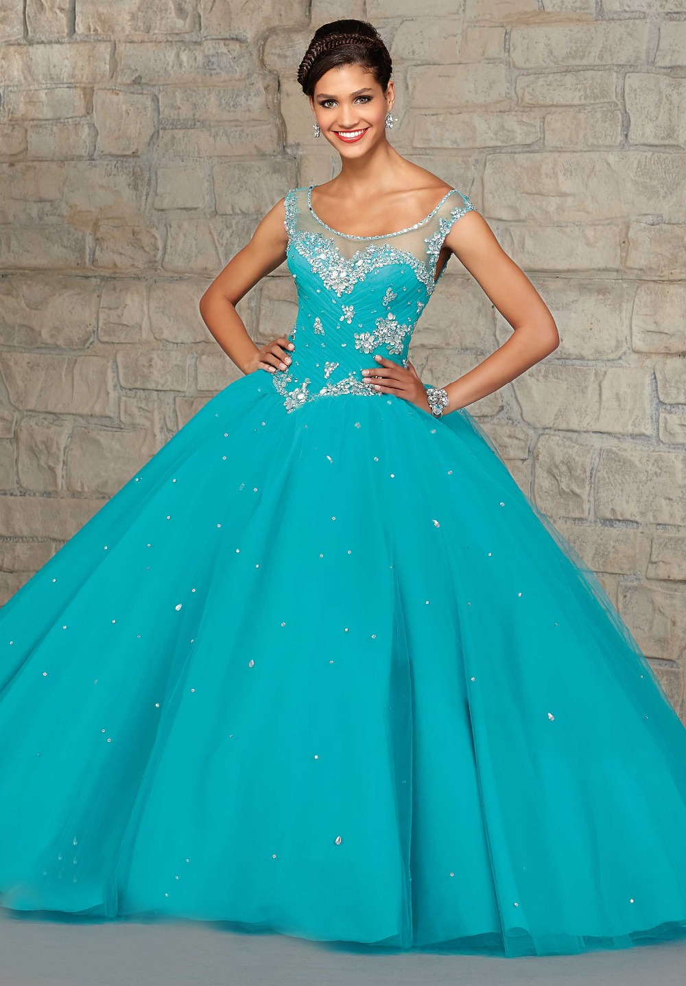 Popular Aqua Blue Quinceanera Dresses-Buy Cheap Aqua Blue ...