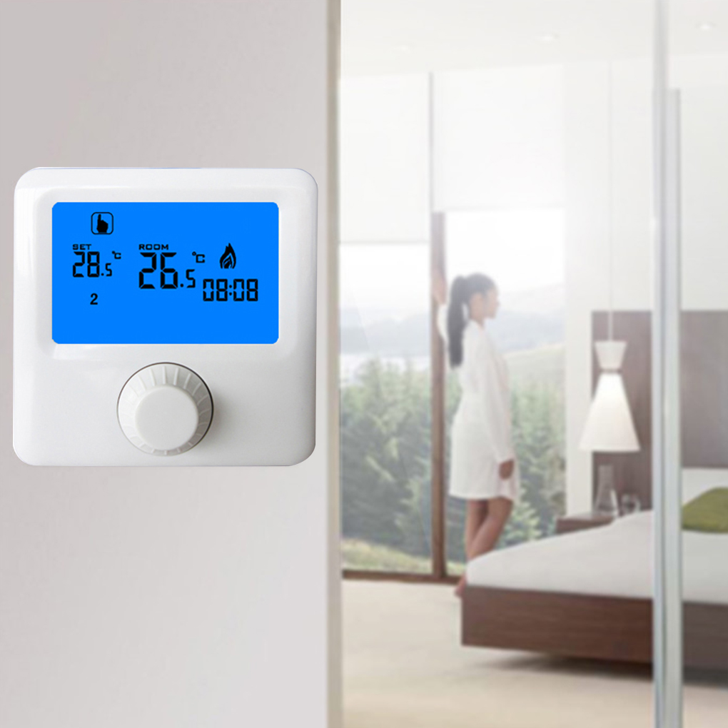LCD Display Wall-hung Gas Boiler Thermostat Weekly Programmable Room Heating Thermostat Digital Temperature Controller wireless programmable room heating thermostat for electric heating panel radiator actuator gas boiler digital temperature screen