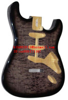 new made in China electric guitar basswood body with sticking tiger stripes+ free shipping