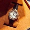 Mesmo estilo como carter Moda Pulseira de Couro de luxo Da Marca Analógico Quartz watch reloj mujer das mulheres relógios com logotipo de alta qualidade