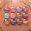 100pcs Lot Mixed Round Pattern Cameo Glass Cabochon 12mm 10mm Diy Flatback Dome Earrings Bracelets Findings