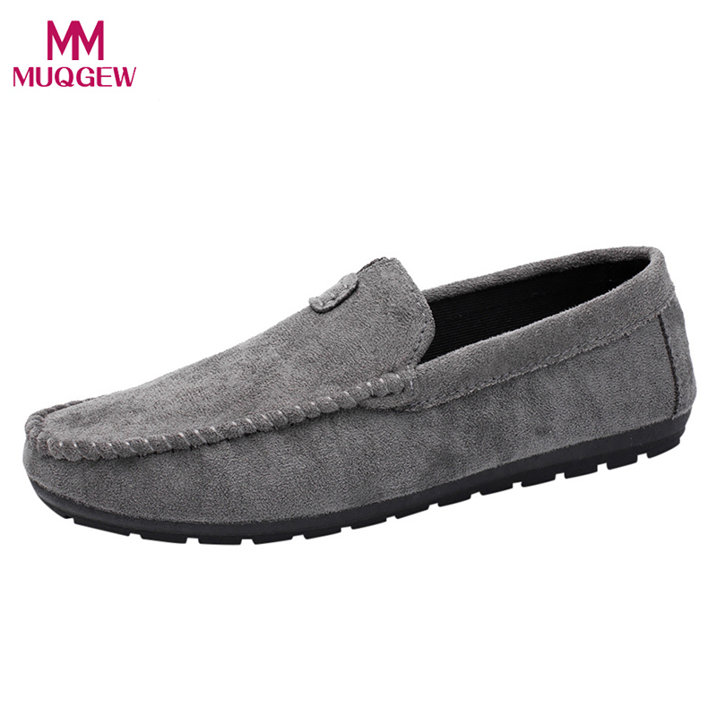 Men Flat Shoes Summer Mens Boat Bean Shoes Fashion Style Young Cool Casual Comfortable Driving Bean Solid Shoes masculino