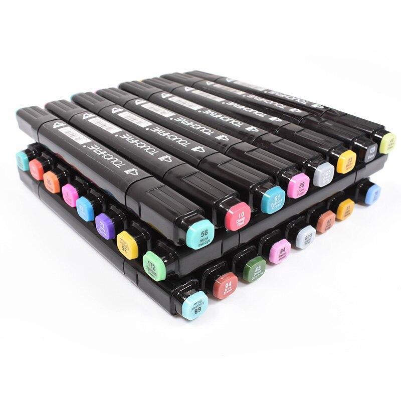 TouchFIVE 168 couleur Double croquis Art marqueurs Double tête graphique marqueur stylo Set Art stylos peinture dessin fournitures
