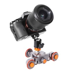 Folding Smart Electric Photography Car Camera Slide Rail Track Car SLR Remote Control Camera Car Desktop Micro - car L4