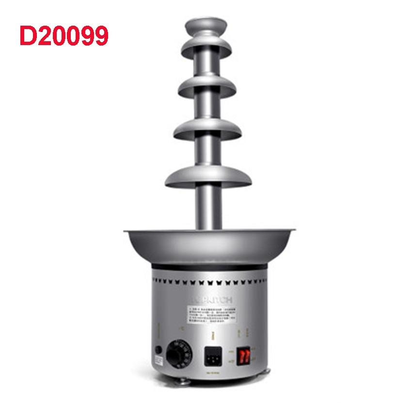 """""""D20099"""" kokybės nerūdijančio plieno 304 5 pakopų komercinis šokolado fontanas iš kalėdinių vestuvių reikmenų šventės renginio 110V 60Hz"""