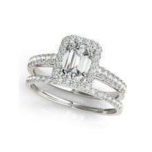 QYI Luxury Engagement Ring Wedding Ring Sets 3 ct Square Cut CZ 925 Sterling Silver Rings For Women Bridesmaid Gift