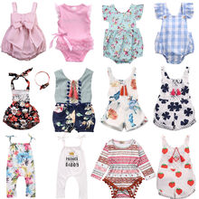 2018 Flower Baby Girls Clothing Newborn Baby Girl Floral Rom